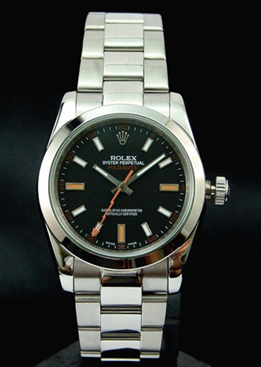 Swiss Rolex Milgauss 116400GV-72400 Black Dial Men Automatic Replica Watch