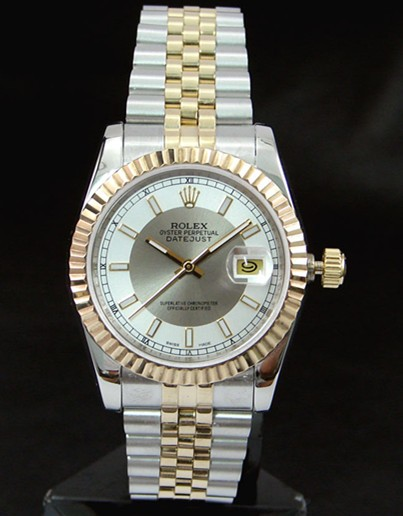 Swiss Rolex Datejust 116233 White and Silver Dial Men Automatic Replica Watch