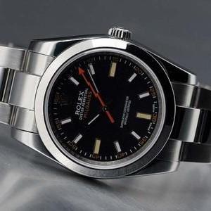 Swiss Rolex Milgauss Black Dial 2007 Model Mens SWRX633
