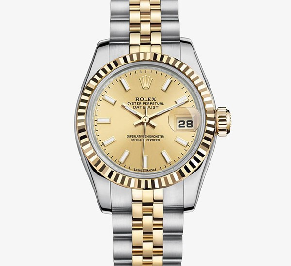 Rolex Datejust 31MM Ladies 179173 Gold dial Automatic Replica Watch