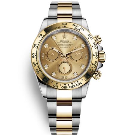 Rolex Cosmograph Daytona 116528 Gold Dial Men Automatic Replica Watch