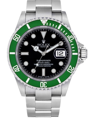 Rolex Submariner 50th Anniversary Automatic Replica Watch Black Dial Green Bezel