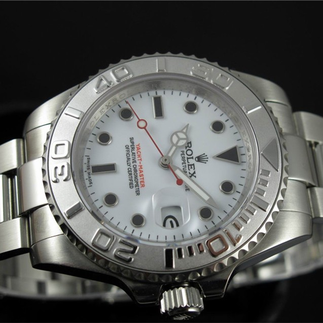 Swiss Rolex Yacht-Master White dial Men Automatic Replica Watch