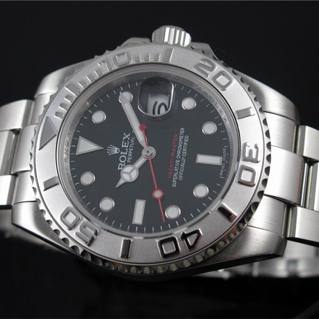 Rolex Yacht-Master Black dial Men Automatic Replica Watch