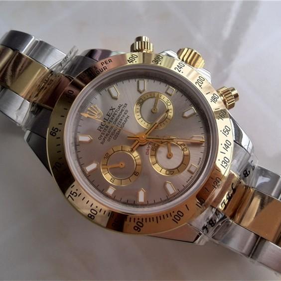 Swiss Rolex Daytona Replica Watch Gray Dial Two Tone (High End)