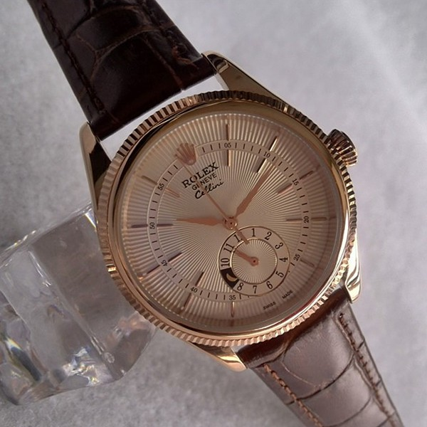 Rolex Cellini 50525 18K Rose Gold Silver dial Men Automatic Replica Watch