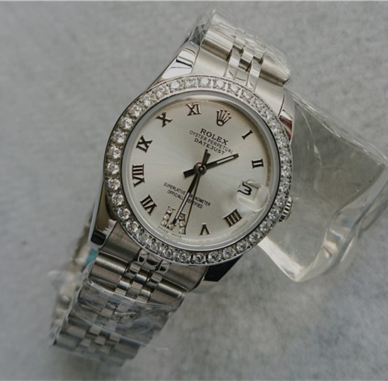 Rolex Datejust Ladies Automatic Watch Silver White Dial 31mm