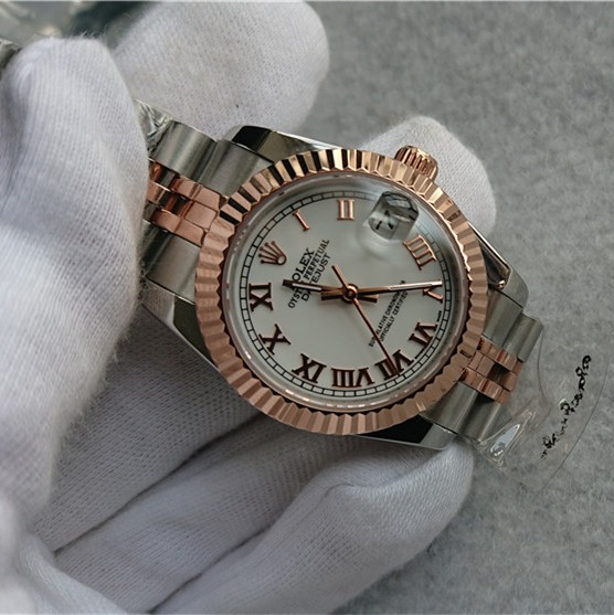 Rolex Datejust Ladies Automatic Watch White Dial 31mm
