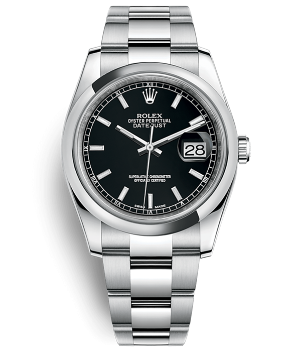 Swiss Rolex Datejust 116200 Black dial 3135 Automatic Watch 36mm