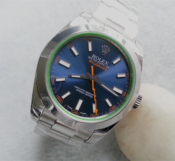 Rolex Milgauss 116400GV Automatic Watch Lightning Blue