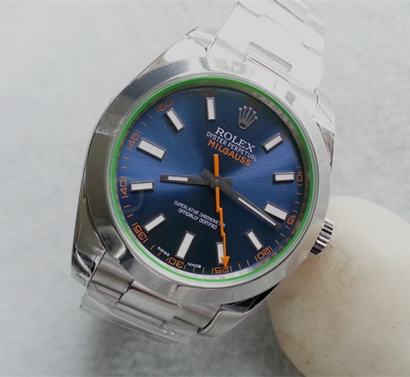 Rolex Milgauss 116400GV Automatic Watch Lightning Blue
