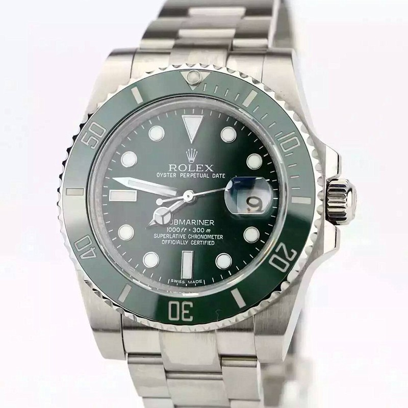 Rolex Submariner Date Swiss ETA3135 Automatic Watch Green Dial (Super Model)