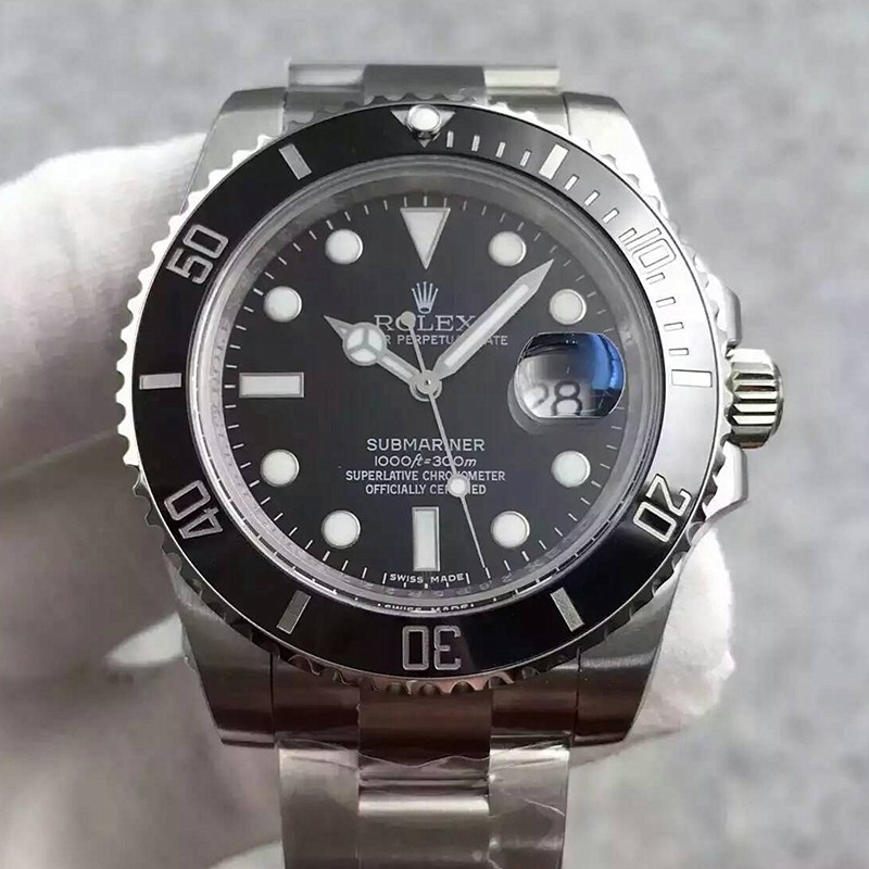 Swiss Rolex Submariner 116610LN Black Dial