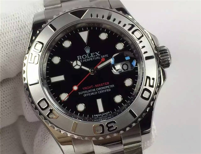 Rolex Yacht-Master Swiss Automatic Watch Black Dial