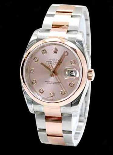 Swiss Rolex Datejust 116201 Pink Dial Ladies Automatic Replica Watch
