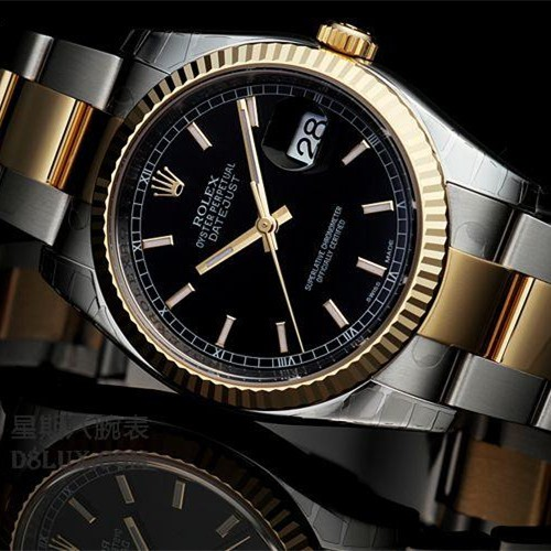 Swiss Rolex Datejust Mens 116233 Black dial Bar-type time markers  Automatic Replica Watch