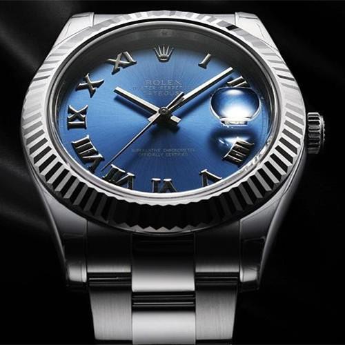 Swiss Rolex Datejust Mens 116334 Blue dial Roman numerals Automatic Replica Watch