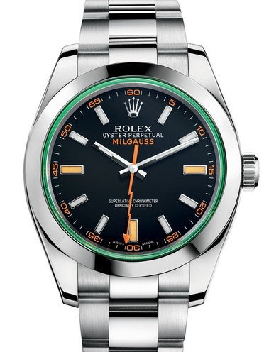 Rolex Milgauss Swiss Replica Watch 116400GV-0001 Black Dial 40mm (High End)