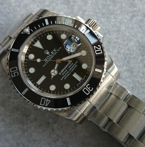 Swiss Rolex Submariner 116610LN Black Dial Replica Watch (High End)