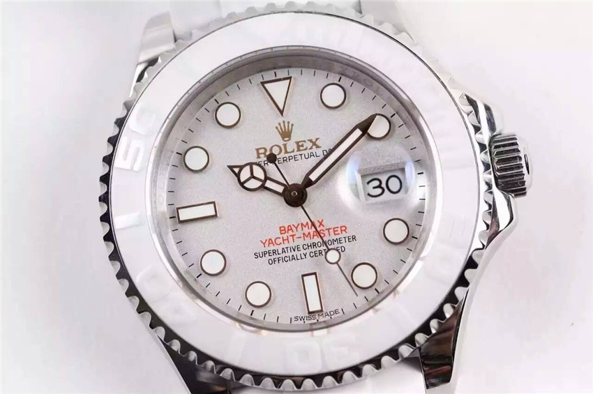 Rolex BayMax Yacht-Master Swiss Automatic Watch Full White
