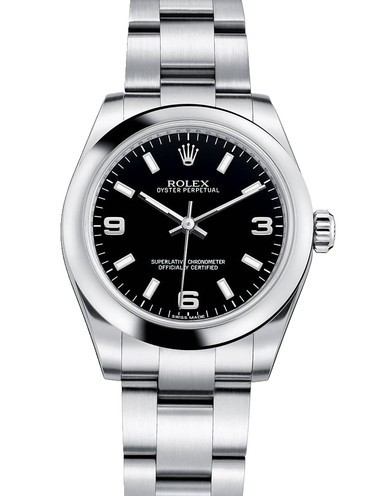 Replica Rolex Oyster Perpetual Automatic Watch 177200 Black Dial 31mm