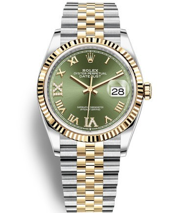 Replica Rolex Datejust Swiss Watches 126233-0025 Green Dial 36mm(High End)