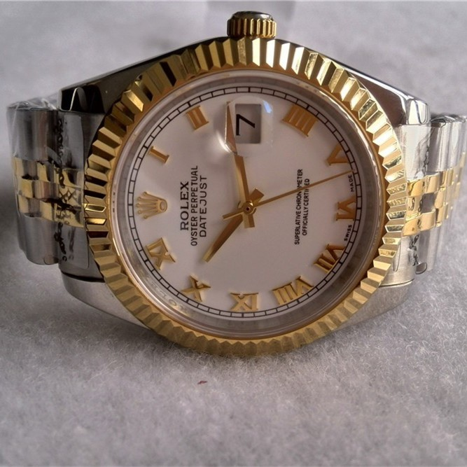 Swiss Rolex Datejust Mens 116233 White dial Roman numerals  Automatic Replica Watch