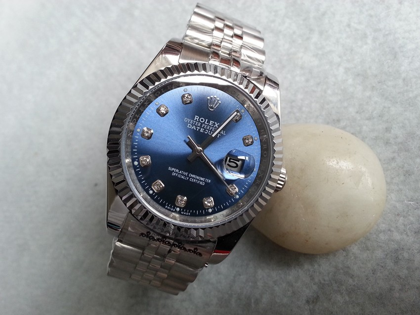 Rolex Datejust II Replica Watches Jubilee SS Stainless Steel Blue Dial Diamond Hour markers I