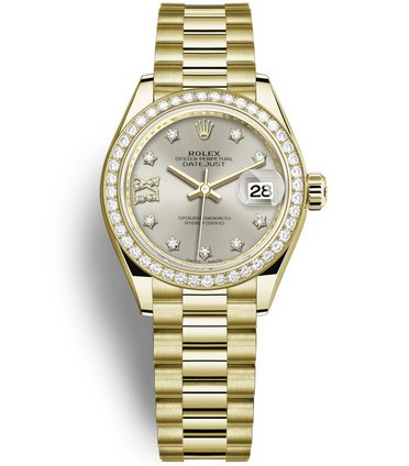 Replica Rolex Datejust Ladies Swiss Watches 279138RBR-0001 Silver Dial 28mm(High End)