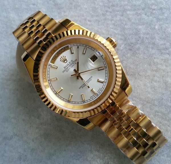 Rolex Day-Date II Replica Watches White Dial RX41150