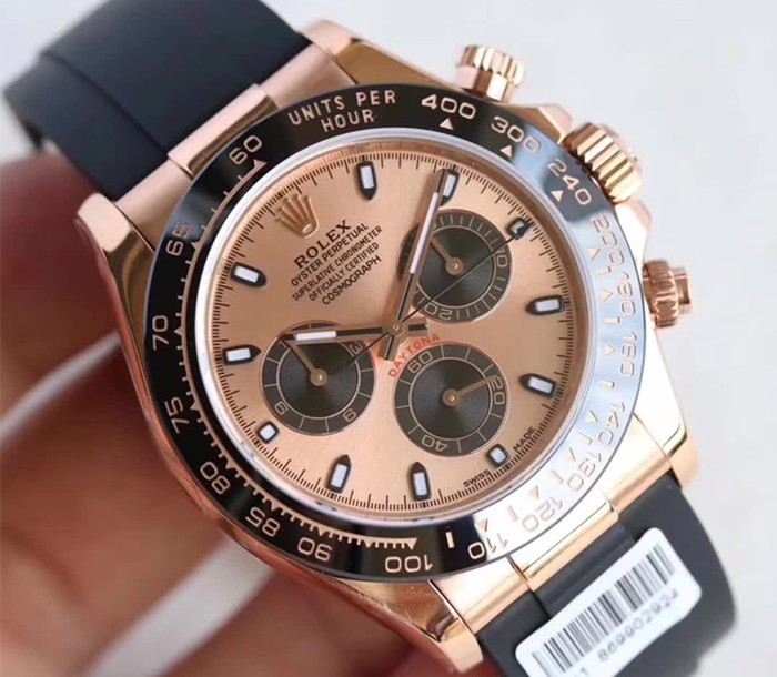 Rolex Daytona Swiss Automatic Watch Ceramic Rose Gold Dial 116515-0013 (High End)