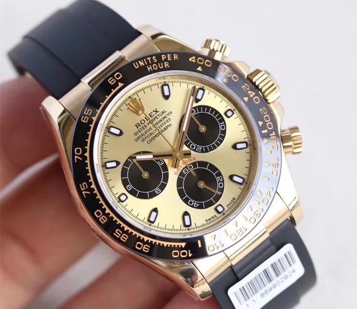 Replica Rolex Daytona Automatic Watch Two-Tone 116518ln-0040 Gold Dial 40mm (High End)