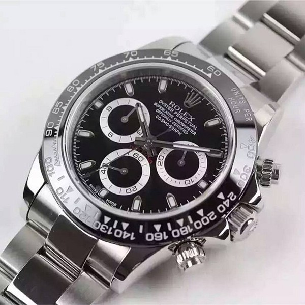 Rolex Daytona 2016 Basel Swiss Chronograph Black Dial (High End)