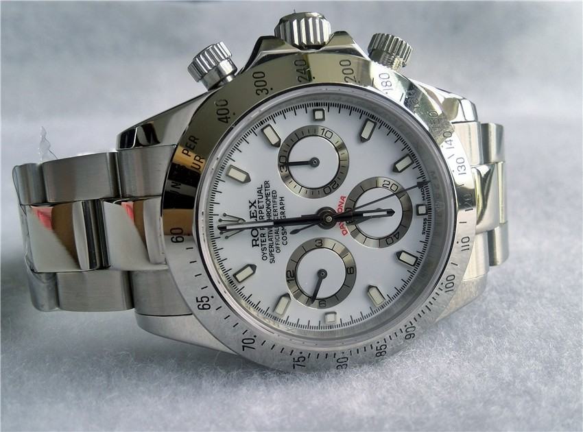 Swiss Rolex Cosmograph Daytona 116520 White Dial Men Automatic Replica Watch