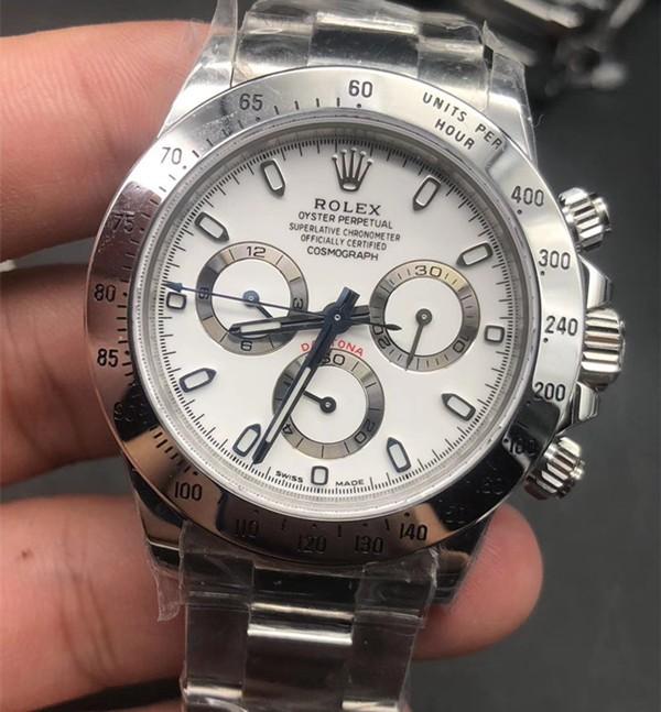 Rolex Daytona Swiss Automatic Chronograph White Dial (High End)