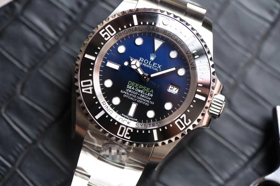 Rolex Deepsea Sea-Dweller Swiss ETA3135 Replica Watch D-Blue Dial (Super Model)