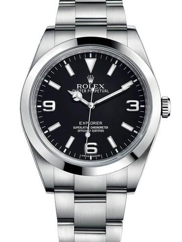 Rolex Explorer Swiss Replica Watch Black Dial 40mm (High End)