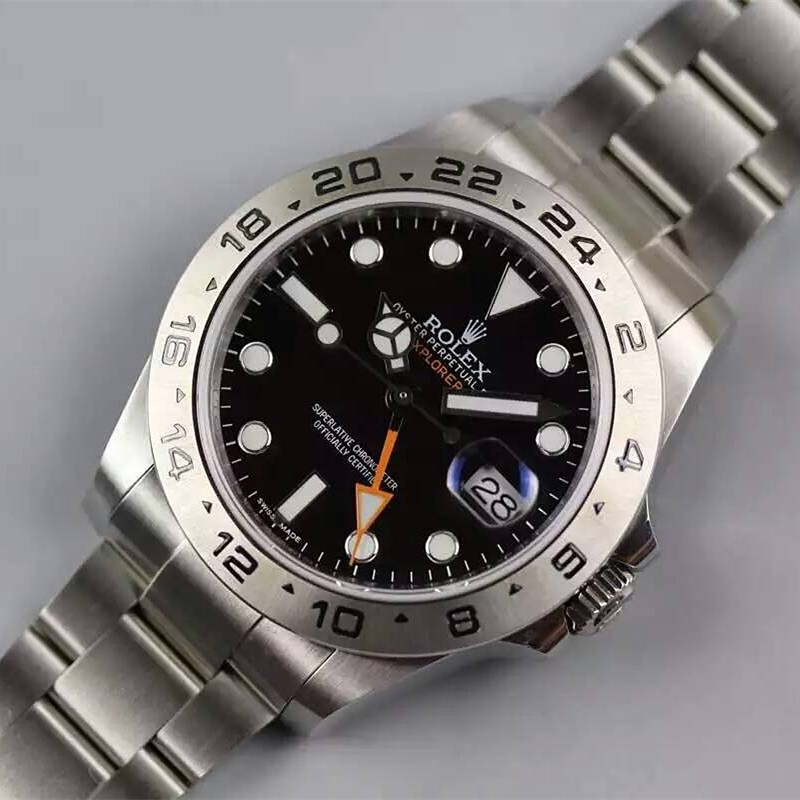Rolex Explorer II Black Dial Orange GMT Hand