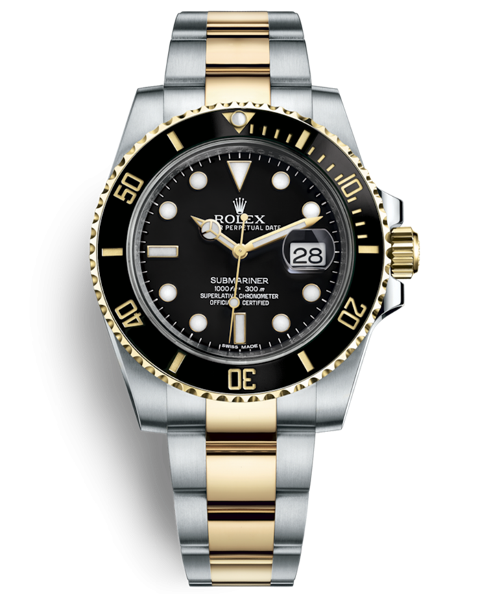 Rolex Submariner Swiss Replica Watch 116613LN-0001 Gold(Super Model)