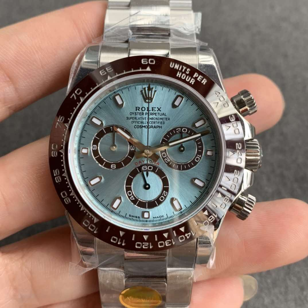 Rolex Daytona Swiss Replica Watch Ice-Blue Dial 40mm (Super Model)