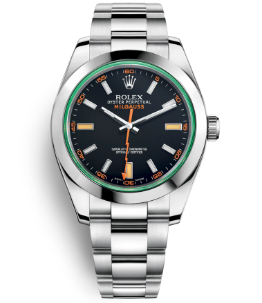 Replica Rolex Milgauss Automatic Watch 116400GV-0001 Black Dial 40mm