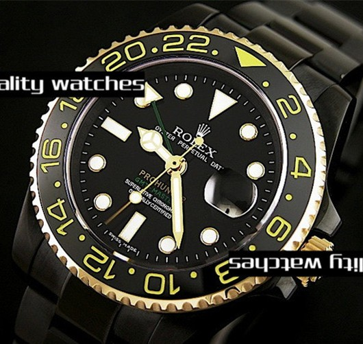 Replica Rolex Prohunter GMT-Master II Automatic Watch Black Dial 40mm
