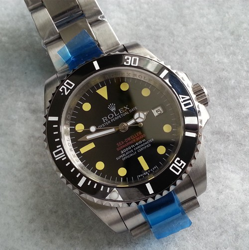 Replica Rolex Sea-Dweller Submariner 2000 Automatic Watch Black Dial 40mm