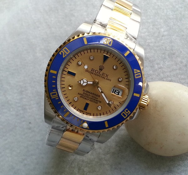 Rolex Submariner Replica Watches18Kt SS (twotone) Champagne Serti dial