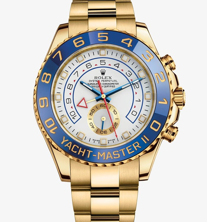 Rolex Yacht-Master II Swiss Automatic Watch Full Gold White Dial
