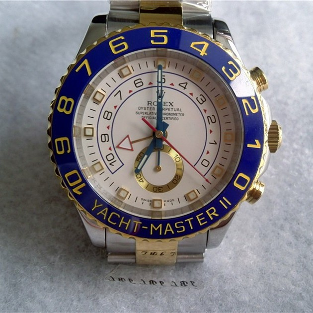 Rolex Yacht-Master II Swiss Automatic Watch Two Tone White Dial