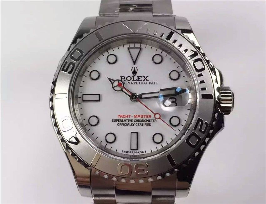 Rolex Yacht-Master Swiss Automatic Watch White Dial