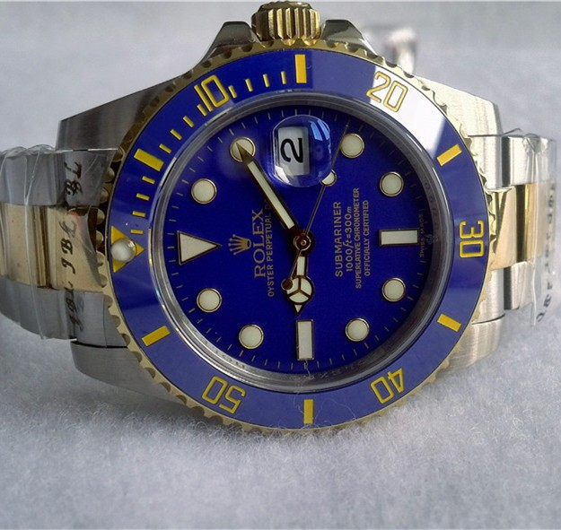 Swiss Rolex Submariner Blue Dial Blue Bezel