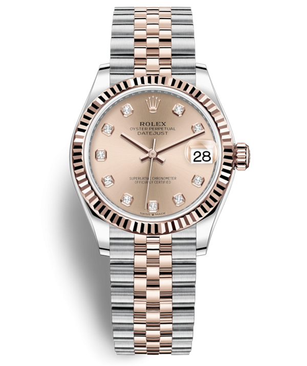 Replica Rolex Lady-Datejust 2019 Swiss Watches 278271-0024 Rose Colour Dial 31mm(High End)