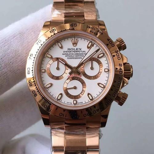 Replica Rolex Daytona Swiss Watches Rose Gold 40mm (High End)